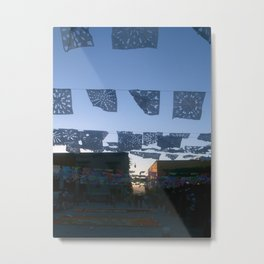 papel picado-cut paper Metal Print