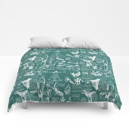 Da Vinci's Anatomy Sketchbook // Genoa Green Comforters