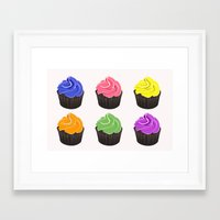 cupcakes Framed Art Prints featuring Cupcakes by kourai