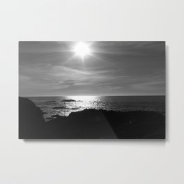 Sunset over Sea Metal Print