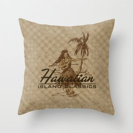 Tradewinds Hawaiian Island Hula Girl Throw Pillow