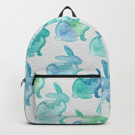 Watercolor Bunnies 1I by Kathy Morton Stanion Backpack