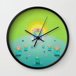 Green Family from Gameboy Wall Clock