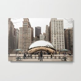 Cloud Gate / The Bean Chicago Metal Print