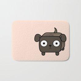 Pitbull Loaf- Brindle Pit Bull with Floppy Ears Bath Mat