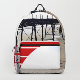 Vitorian Pier - red graphic Backpack