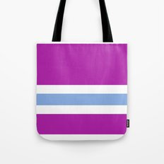 Purple, White, and blue Tote Bag