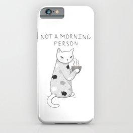 Morning Pajamas Cat iPhone Case