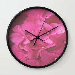 Hydrangea in Pink Wall Clock