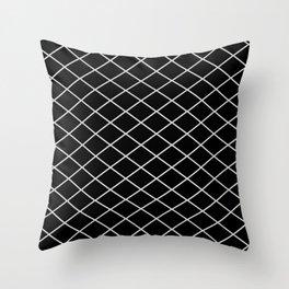 Diamond Lines - Silver Throw Pillow