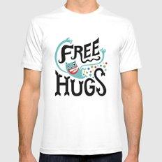 Free Hugs MEDIUM White Mens Fitted Tee