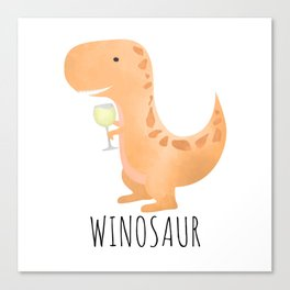 Winosaur | White Wine Canvas Print