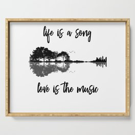 Life Is A Song Nature Guitar Forest Music Lyrics Serving Tray