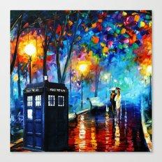 Tardis Romantic Night Canvas Print