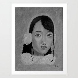 Winter Beauty by Lu, black-and-white Art Print