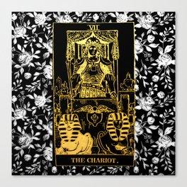 A Floral Tarot Print - The Chariot Canvas Print