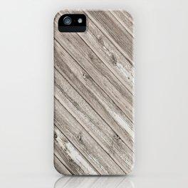 Herringbone Weathered Wood Texture iPhone Case