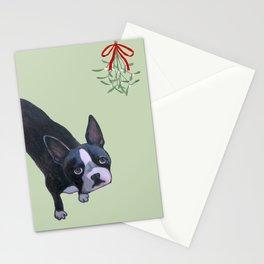 Dog with Mistletoe Stationery Cards