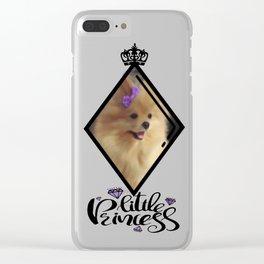 Pomeranian Princess Clear iPhone Case