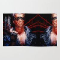 terminator Area & Throw Rugs featuring The Terminator by Alice Z.