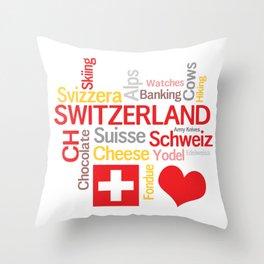 My Favorite Swiss Things Throw Pillow