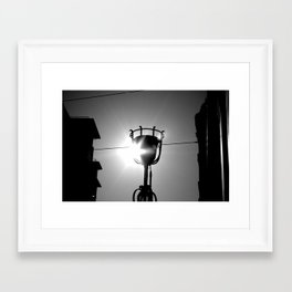 lights on  Framed Art Print
