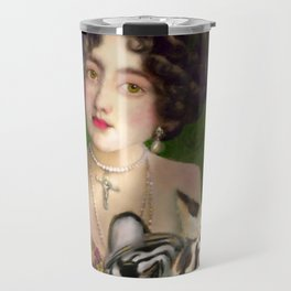 The Madame Blanchefleur Apolline brings a White Tiger to the Feast of the Epiphany Travel Mug