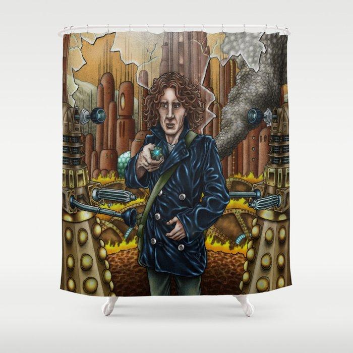 TIME WAR colour Shower Curtain