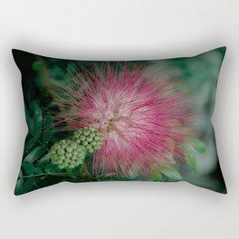 Calliandra. Flower. Rectangular Pillow