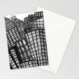 looking uptown (small) Stationery Cards