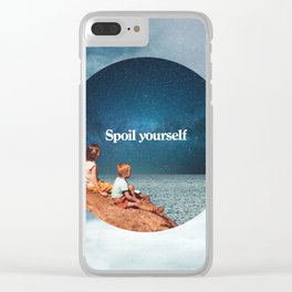 Spoil yourself Clear iPhone Case