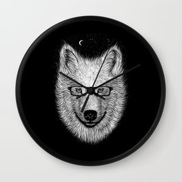 WHITE SPECTACLE Wall Clock