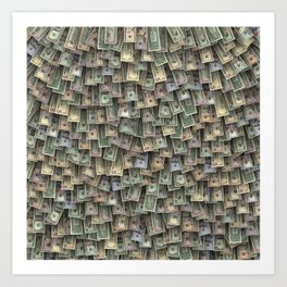 US dollars all over cover Art Print