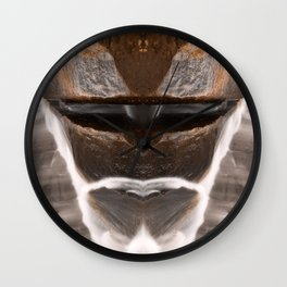 Alien Tribal Mask Wall Clock
