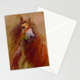 Caliente - Friesian horse - Gypsy Vanner Stationery Cards