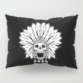 Shaman skull black & white Pillow Sham