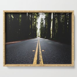 Into The Woods I Go - Nature Photography Serving Tray