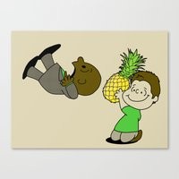 psych Canvas Prints featuring Psych! by AriesNamarie