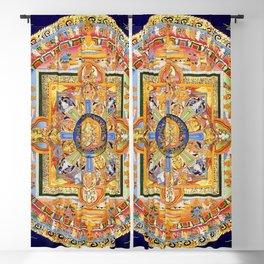 Buddhist Mandala 49 Green Tara Blackout Curtain