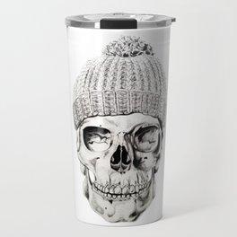 Skull with Hat Travel Mug