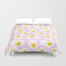 Cute Fried Eggs Pattern Duvet Cover