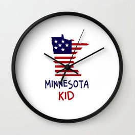Minnesota Kid Wall Clock