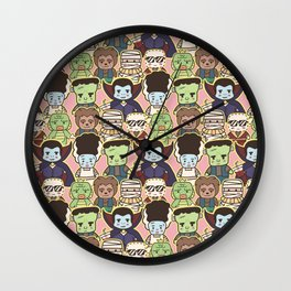 Kawaii Little Monsters Series 1 Pattern Print Wall Clock