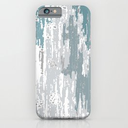 Blue Grey abstract. .minimalist. line. minimalism. lines. iPhone Case
