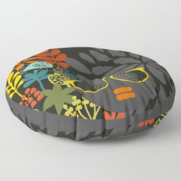 Afro Diva : Sophisticated Lady Gray Floor Pillow