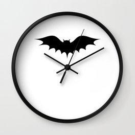 Halloween bat silhouette bats party Wall Clock