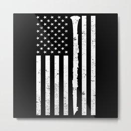 American Flag Clarinet USA Marching Band Metal Print