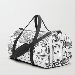 Amsterdam Line Art Duffle Bag