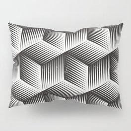 Black And White cuber Pillow Sham