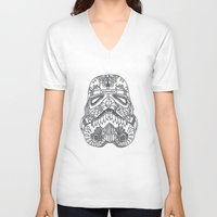 storm trooper V-neck T-shirts featuring Storm Trooper by ChloeHunt